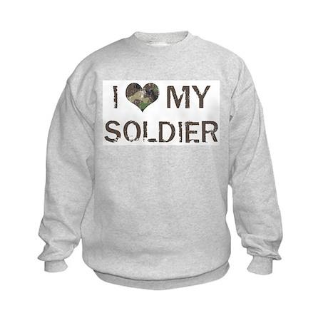 Soldier: Love - Vintage Kids Sweatshirt