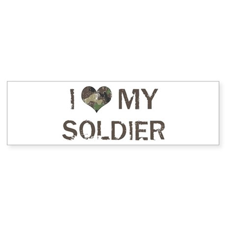 Soldier: Love - Vintage Bumper Sticker
