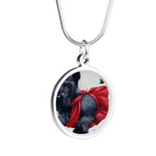 Christmas Silver Round Necklace