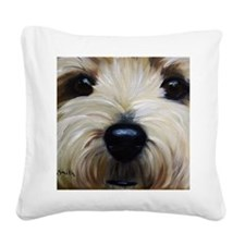 Up Close and Personal Square Canvas Pillow