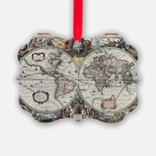 Old World Map 1630 Ornament