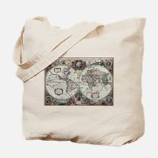 Old World Map 1630 Tote Bag