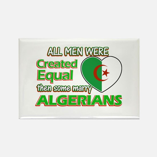 Algerian wife designs Rectangle Magnet