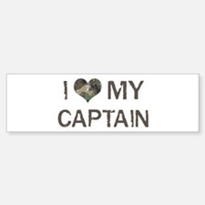 Captain: Love - Vintage Bumper Bumper Bumper Sticker