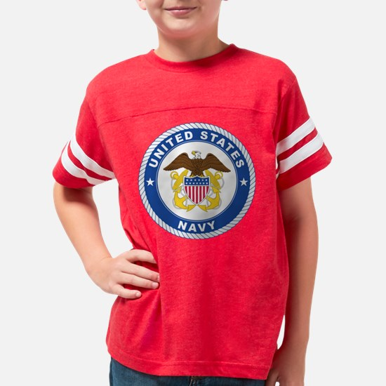 U.S. Navy Emblem Youth Football Shirt