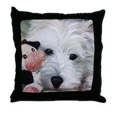 Snuggling Budda Throw Pillow