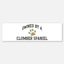Clumber Spaniel: Owned Bumper Bumper Bumper Sticker