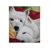 Westie Fleece Blankets