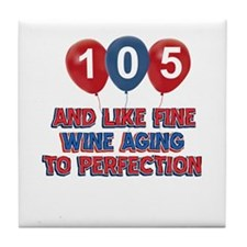 104th birthday designs Tile Coaster
