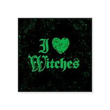 "I Love Witches Square Sticker 3"" x 3"""