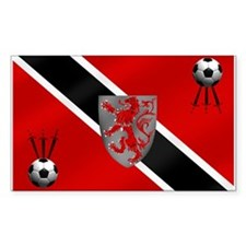 Trinidad Tobago Football Flag Decal