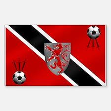 Trinidad Tobago Football Flag Decal