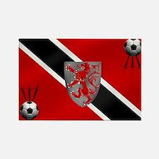 Trinidad Tobago Football Flag Rectangle Magnet