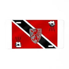 Trinidad Tobago Football Flag Aluminum License Pla
