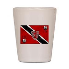 Trinidad Tobago Football Flag Shot Glass