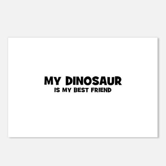 My DINOSAUR is my Best Friend Postcards (Package o