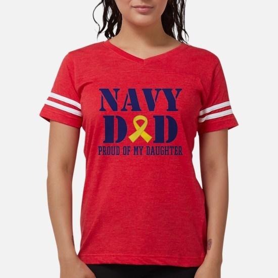 Navy Dad Proud Of Daughter Womens Football Shirt