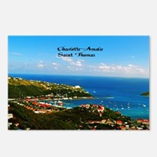 Charlotte-Amalie  Postcards (Package of 8)