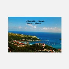 Charlotte-Amalie  Rectangle Magnet