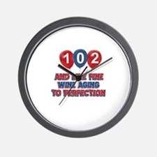 102nd birthday designs Wall Clock