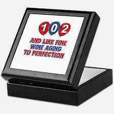 102nd birthday designs Keepsake Box