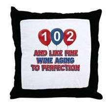 102nd birthday designs Throw Pillow
