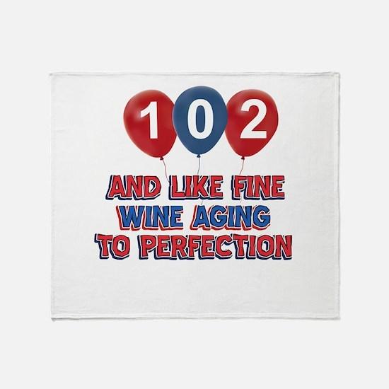 102nd birthday designs Throw Blanket