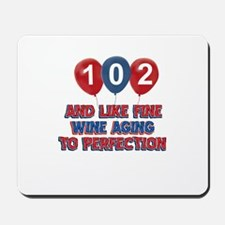 102nd birthday designs Mousepad