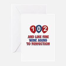 102nd birthday designs Greeting Cards (Pk of 20)