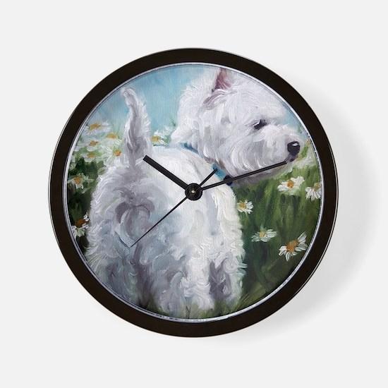 Picking Daisies Wall Clock