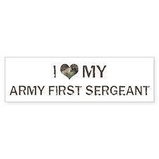 Army First Sergeant: Love - V Bumper Car Car Sticker