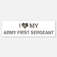 Army First Sergeant: Love - V Bumper Car Car Sticker