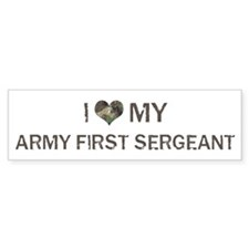 Army First Sergeant: Love - V Bumper Car Sticker