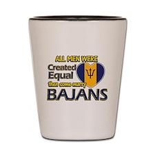 Bajans wife designs Shot Glass