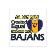 "Bajans wife designs Square Sticker 3"" x 3"""