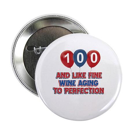 "100th birthday designs 2.25"" Button (10 pack)"
