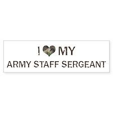 Army Staff Sergeant: Love - V Bumper Bumper Sticker