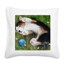 Bliss in the Grass Square Canvas Pillow