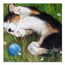 "Bliss in the Grass Square Car Magnet 3"" x 3"""