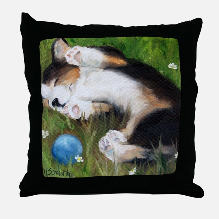 Bliss in the Grass Throw Pillow