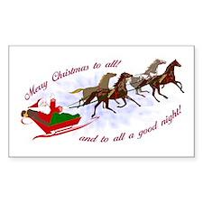Horsey Christmas Rectangle Decal