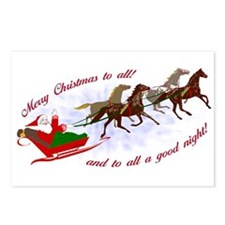 Horsey Christmas Postcards (Package of 8)
