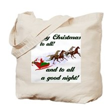 Horsey Christmas Tote Bag