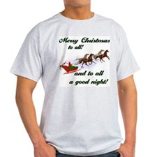 Horsey Christmas Ash Grey T-Shirt