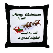 Horsey Christmas Throw Pillow