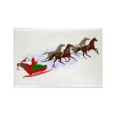 Horsey Christmas Rectangle Magnet