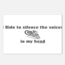 I Ride to silence the voices Postcards (Package o