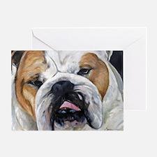 Daisy Bulldog Greeting Card