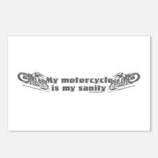 My Motorcycle is my sanity Postcards (Package of 8