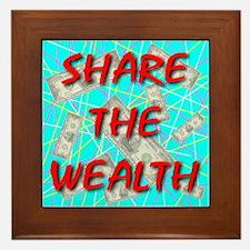 Share The Wealth Framed Tile